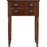 Sheraton 1830 Era New England Nightstand, Lamp or End Table