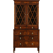Traditional 1950's Vintage Mahogany Bookcase or China Cabinet
