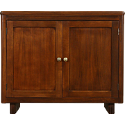 Midcentury Modern 1960 Vintage Walnut Library or Office Cabinet, Panel Doors