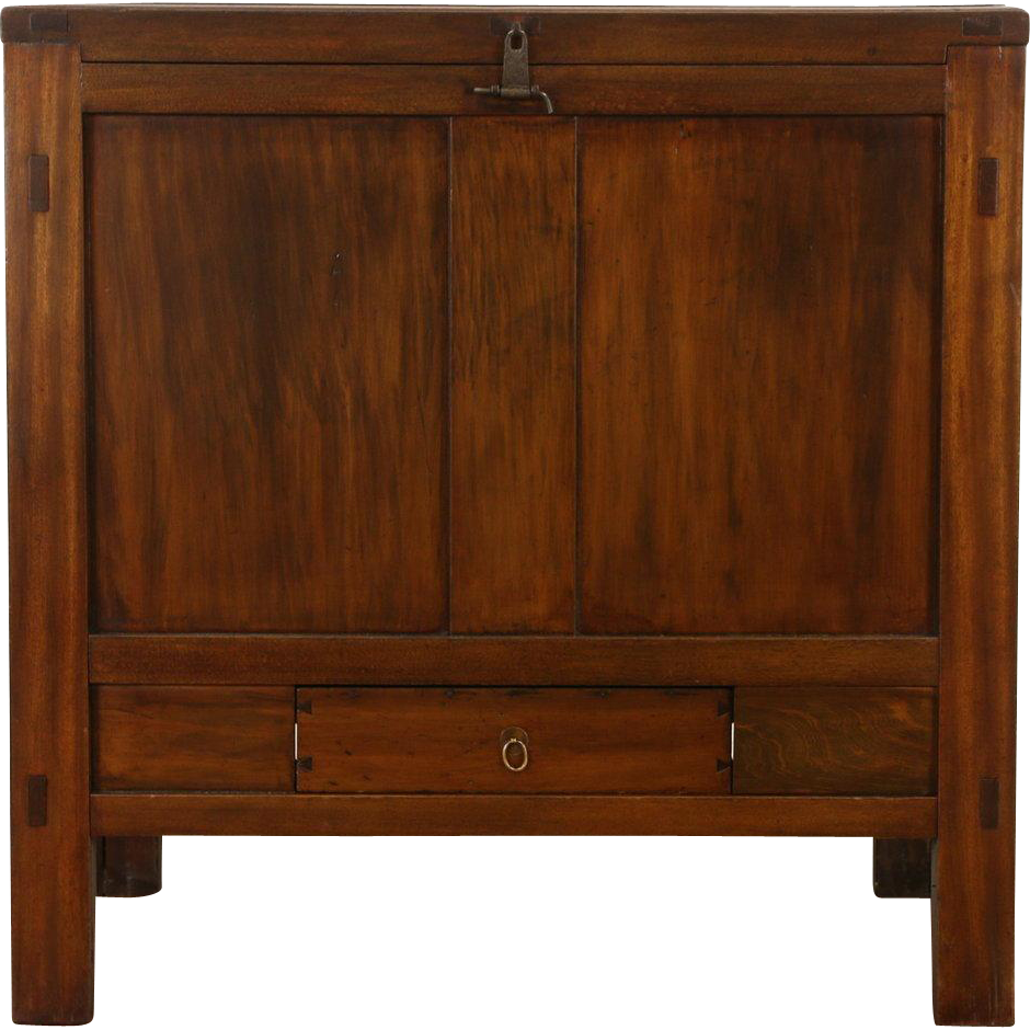 Chinese 1900 Era Antique Carved Trunk or Dowry or Blanket Chest