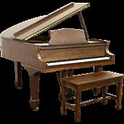 Lyon & Healy Aeolian Signed 5' Walnut Vintage Grand Piano & Bench