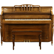 Hardman Signed 1960 Vintage Walnut Spinet Piano & Bench