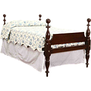 Empire 1840 Antique Full or Double Size 4 Poster Rope Bed & Platform