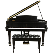 Steinway 1964 Model M Ebony Grand Piano & Bench, Signed by Henry Steinway
