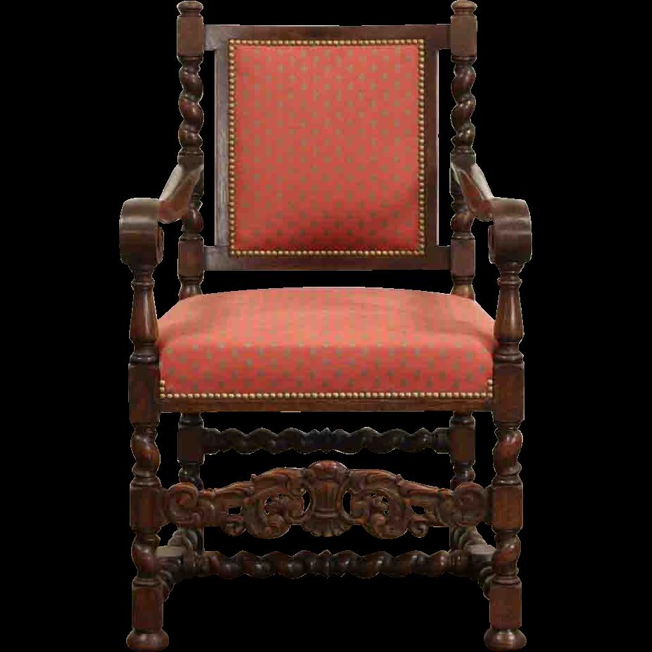 Dutch Renaissance Carved Oak 1910 Antique Desk Chair - Dutch Renaissance Carved Oak 1910 Antique Desk Chair From