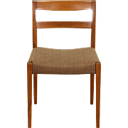 Teak Midcentury Danish Modern 1960's Desk or Side Chair, New Upholstery