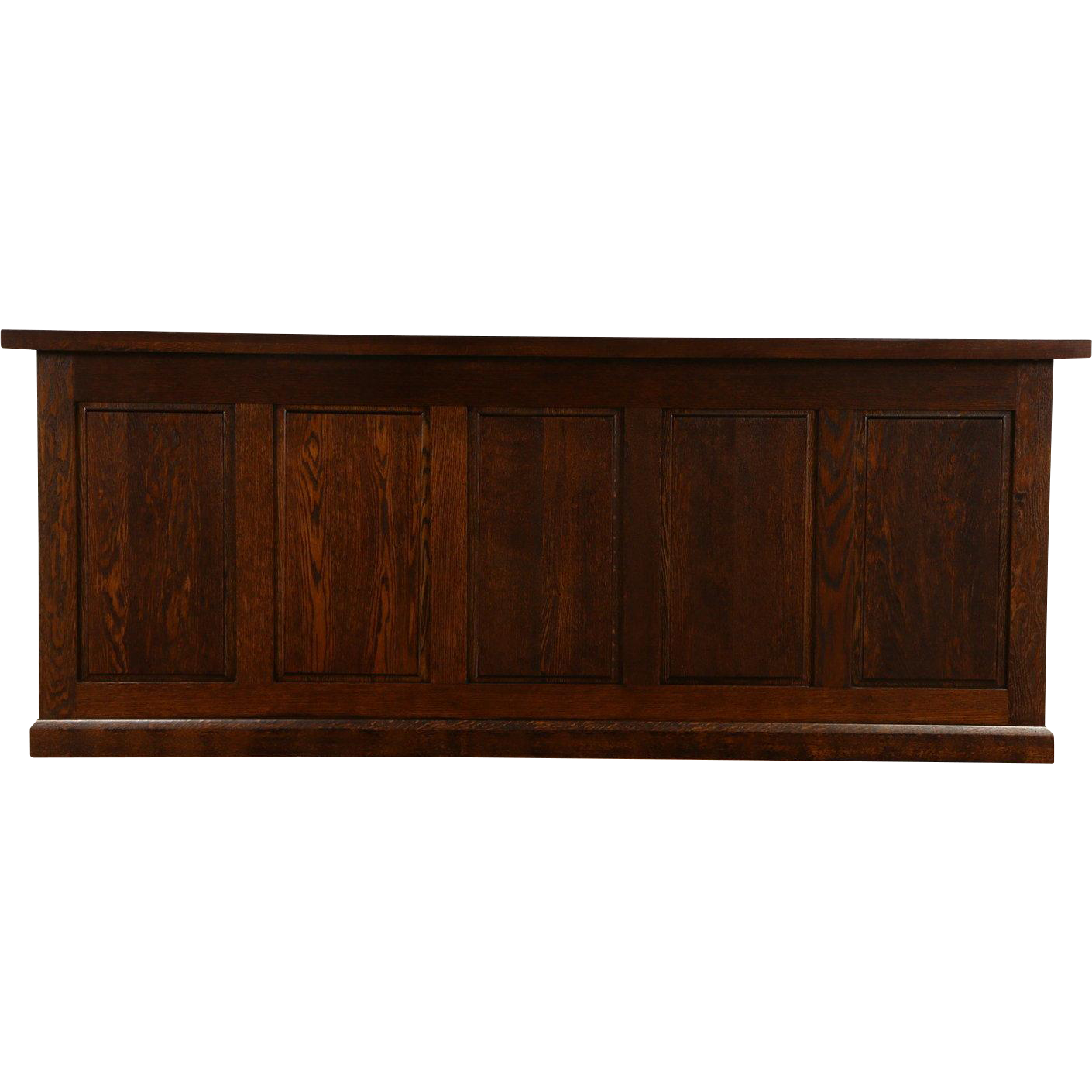 Oak 1900 Craftsman Store Counter, Bar, or Kitchen Island, Raised Panels