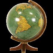 """Crams 10 1/2"""" Terrestrial Globe, 1939 Era"""