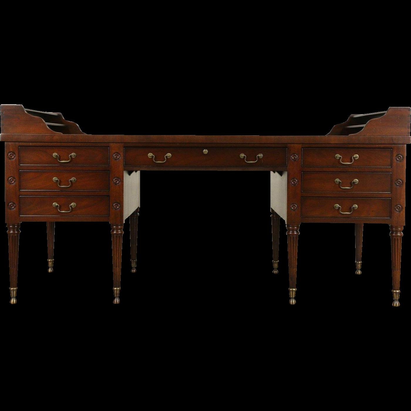 Kittinger Signed Geo. Washington Vintage Mahogany Desk