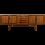 Midcentury Danish Modern Teak 1960 Credenza, Sideboard, TV Console, Ib Larsen
