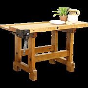 Butcher Block Maple Work Bench, Kitchen Island, Wine Table, Clamp Pat 1884