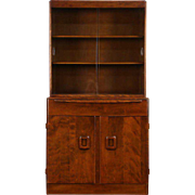 Heywood Wakefield Midcentury Modern 1953 Vintage China Display Cabinet, Bookcase