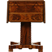 Empire 1820 Antique Mahogany Dropleaf Lamp or End Table, Nightstand