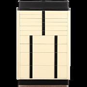 Art Deco 1930's Vintage Dental Cabinet, Dentist or Collector Cabinet