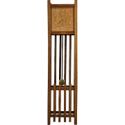 Arts & Crafts Mission Oak 1905 Antique Grandfather Clock, Signed Seth Thomas