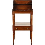 Sheraton 1810 Antique Washstand, Hand Made Mahogany