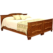 Country Pine German Vintage King Size Bed