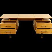 Micentury Modern 1960 Vintage Signed Drexel Desk & Vanity Combination