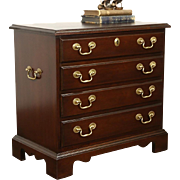 Hickory Masterpiece Collection Signed Nightstand, Silver or Collector Chest