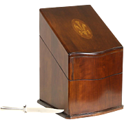 Cherry & Marquetry Traditional Vintage Covered Knife Box