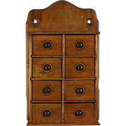 Spice Box, 1890 Pantry Antique, 8 Drawers