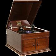 Victor Talking Machine Model 109, Tabletop 1915 Antique Mahogany Victrola
