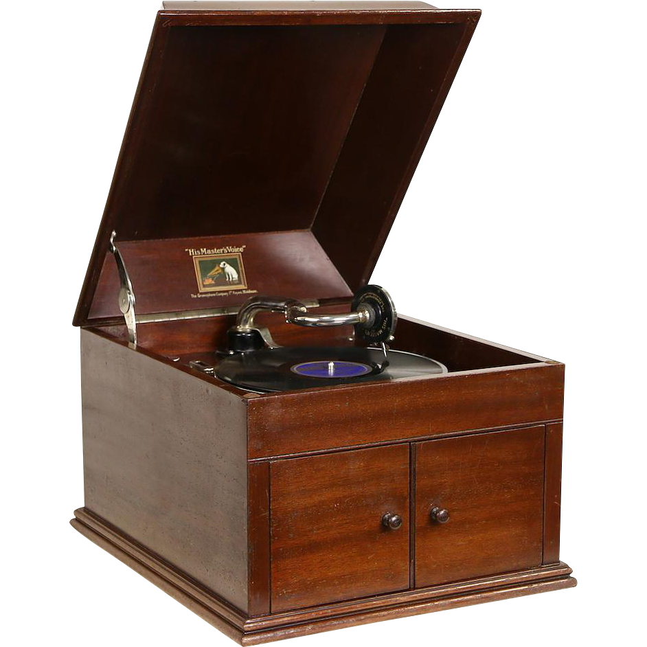 Victor Talking Machine Model 109, Tabletop 1915 Antique Mahogany Victrola