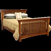 Arts & Crafts Mission Oak Vintage Craftsman Queen Size Bed