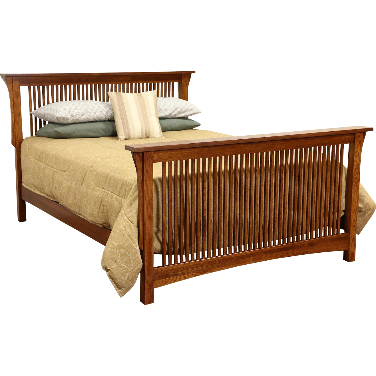 Arts & Crafts Mission Oak Vintage Craftsman Queen Size Bed