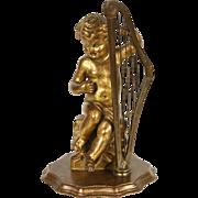 Italian Angel or Cherub Sculpture Harp Player