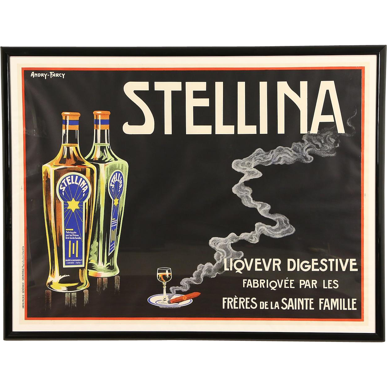 Stellina Liqueur Digestive French Advertising Poster, Billy Hork Gallery