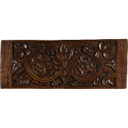 "Thai Architectural Salvage Fragment, Antique Hand Carved Teak, 13"" x 39"""