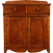 Country Pine 1850's Antique Missouri Pantry Jelly Cupboard, Sideboard or Server