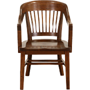 Library or Office 1925 Mahogany Chair with Arms, Sioux Falls SD Courthouse