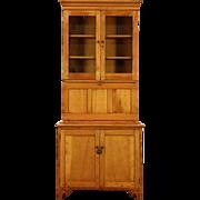 Country Pine 1860's Antique Secretary Desk & Bookcase, Secret Compartments
