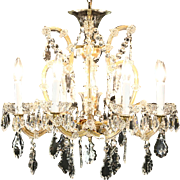 Maria Theresa Design Vintage Cut Crystal 9 Candle Chandelier