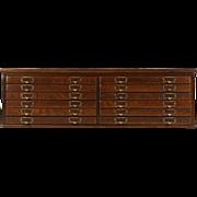 Oak 12 Drawer 1900 Antique Countertop File Cabinet