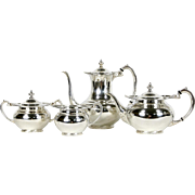 Silverplate Tea & Coffee 4 Pc. Serving Set, Signed Georgian by Community
