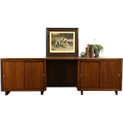 Midcentury Modern 1950's Vintage Executive Credenza, Signed Leopold Chicago