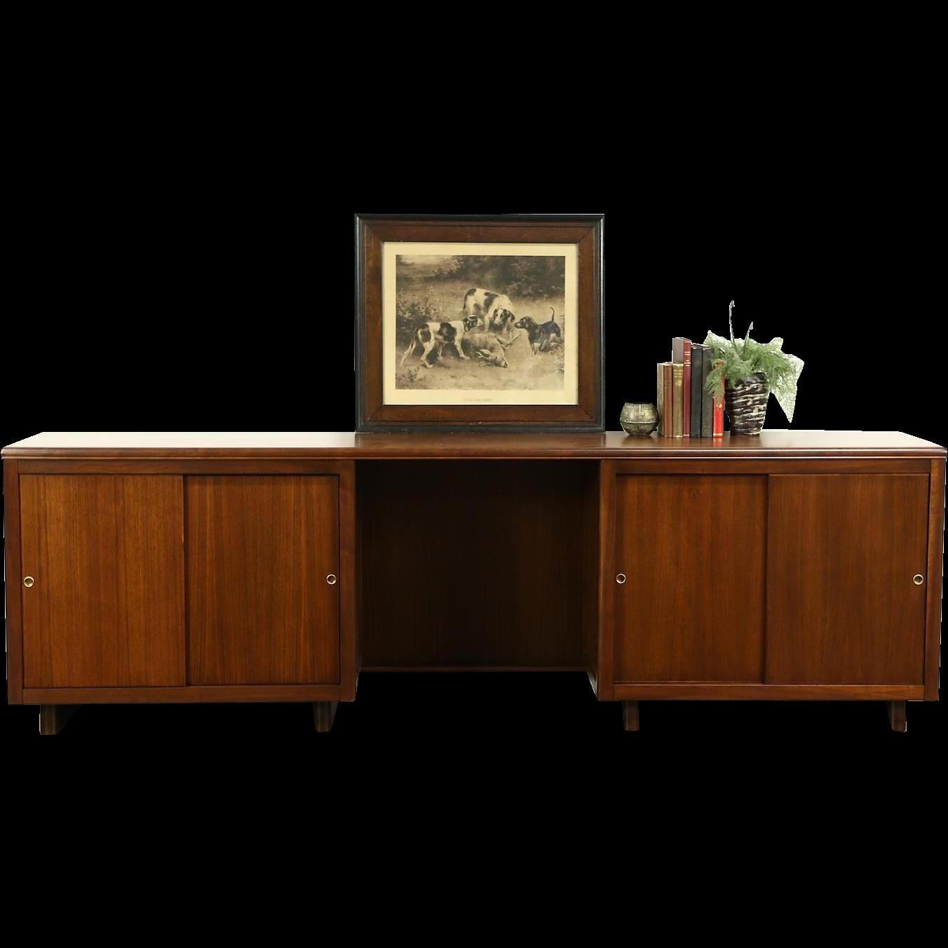 Midcentury Modern 1950's Vintage Executive Credenza, Signed Leopold Chicago