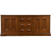 Victorian Walnut 1860 Antique Sideboard, Server, Buffet or TV Console