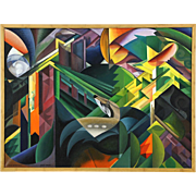 Deer in a Monastery Garden after 1912 Painting of Franz Marc by Bodden 2016
