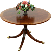 Round Traditional Breakfast, Dining or Center Table, Signed Councill