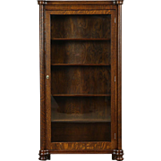 Oak 1900 Antique Display Cabinet or Bookcase, Glass Door