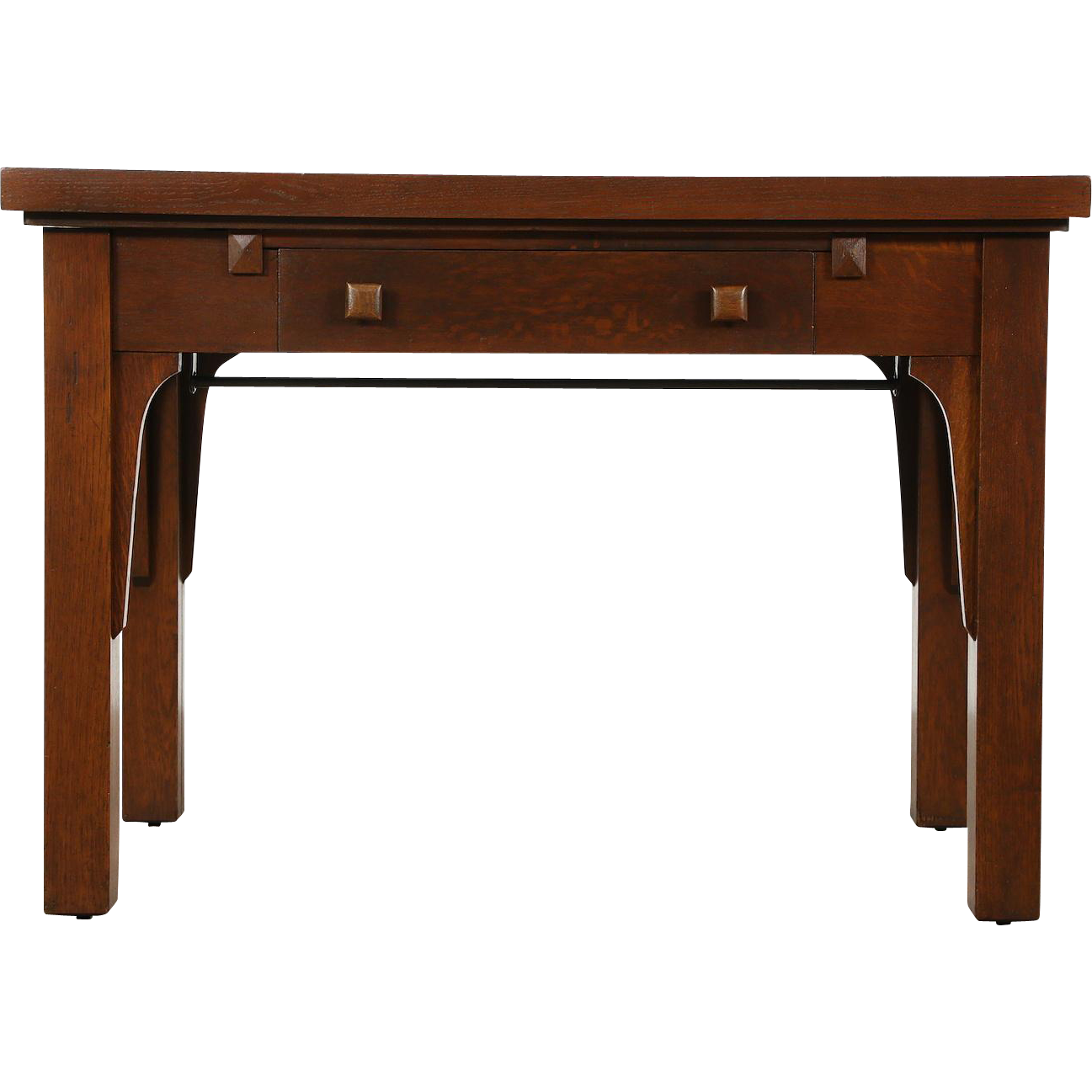 Arts & Crafts Mission Oak 1905 Antique Combination Library Desk & Dining Table