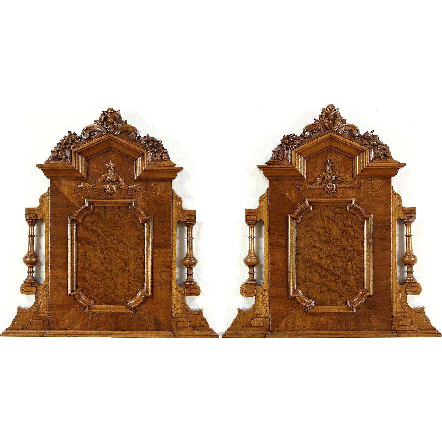 Pair of Italian 1900 Antique Salvage Architectural Fragment