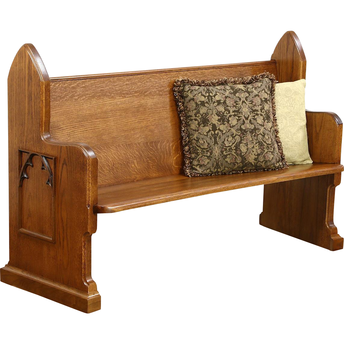 "Oak 1900 Antique 64"" Long Pew or Hall Bench"