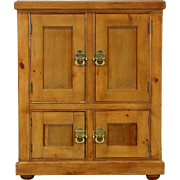 Victorian Pine Icebox or Pantry Cabinet, Signed Boston 1885