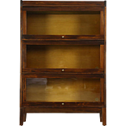Stacking Antique 3 Section Lawyer Bookcase, Signed Udell Indianapolis