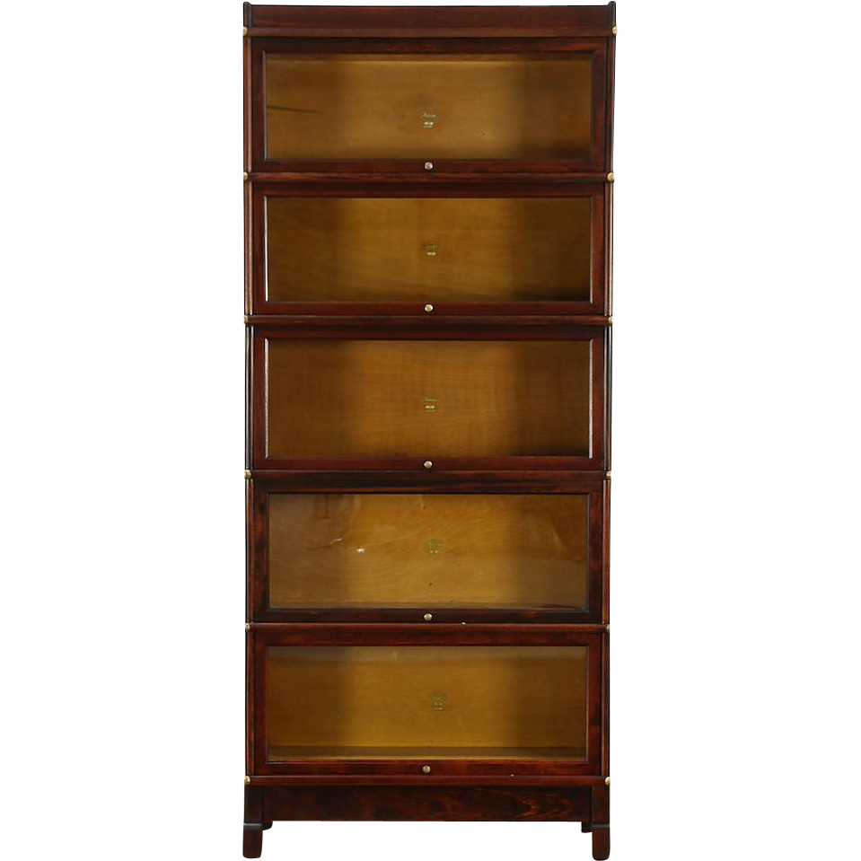 Macey Signed 1910 Antique 5 Stack Lawyer Bookcase